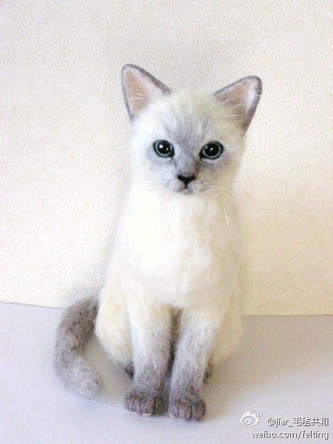 Gefilzte Katze #needlefeltedcat