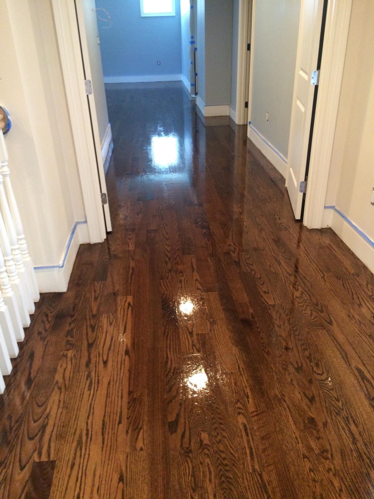 Oak Wood Floors Accent Gray Walls Highlighting A White: Central Mass Hardwood Installed Brand New Red Oak Hardwood