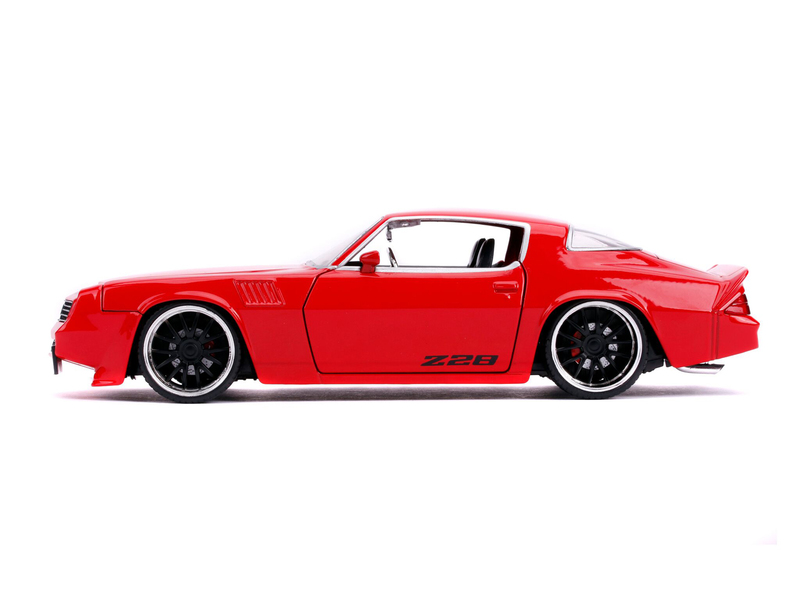 1979 Chevrolet Camaro Z28 Glossy Red Bigtime Muscle 1//24 Diecast Model Car by Jada 31458
