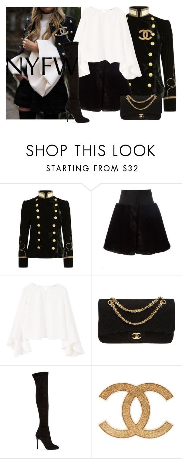 """""""Untitled #1266"""" by dearunique ❤ liked on Polyvore featuring Denim & Supply by Ralph Lauren, Noir Kei Ninomiya, MANGO, Chanel, Jimmy Choo, NYFW and NYFW2017"""