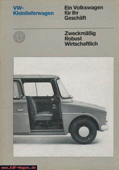 Best Vw 1968 Vw Kleinlieferwagen 152 842 00 3 68 7802 400 x 300