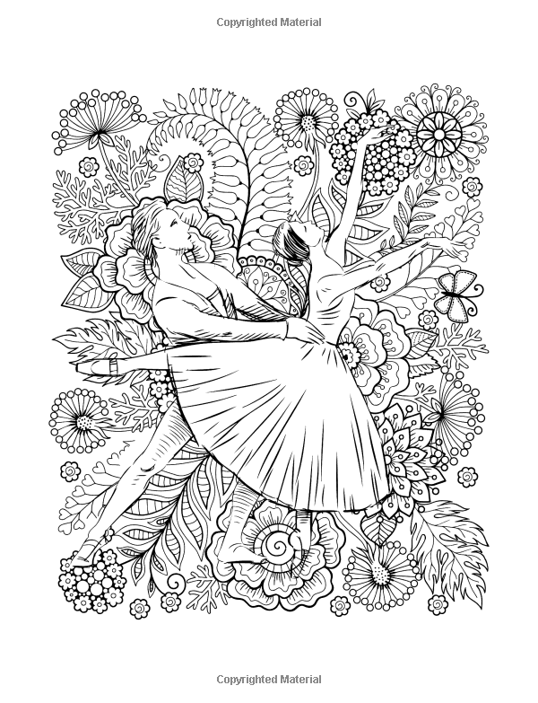 Amazon Com Dance And Ballet Coloring Book For Adults Art Design For Relaxation And Mindfulness 9781974496839 Tiny Cactus Pub Coloring Books Art Art Design