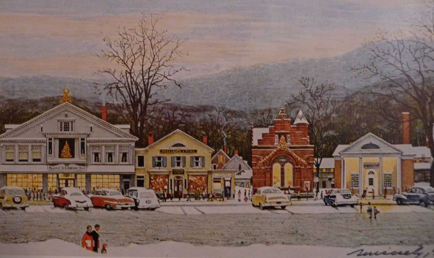 SIGNED Norman Rockwell Art Print HOME for CHRISTMAS Painting New ...