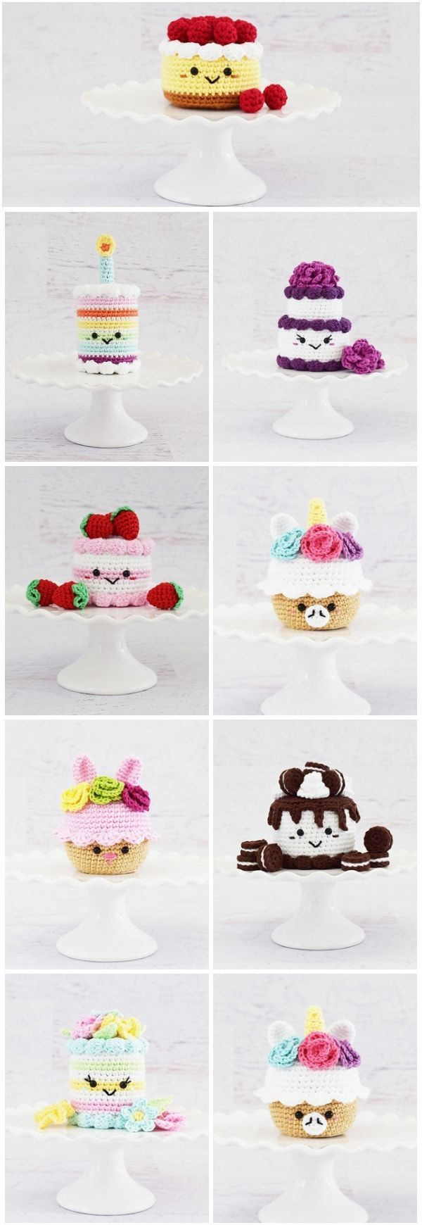 These Crochet Cupcake and cake Patterns can be a nice alternative to the usual p