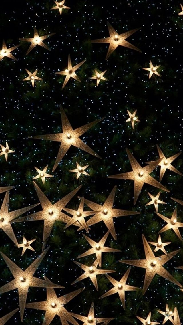 Happy New Year Starry Glitter iPhone Wallpapers (With
