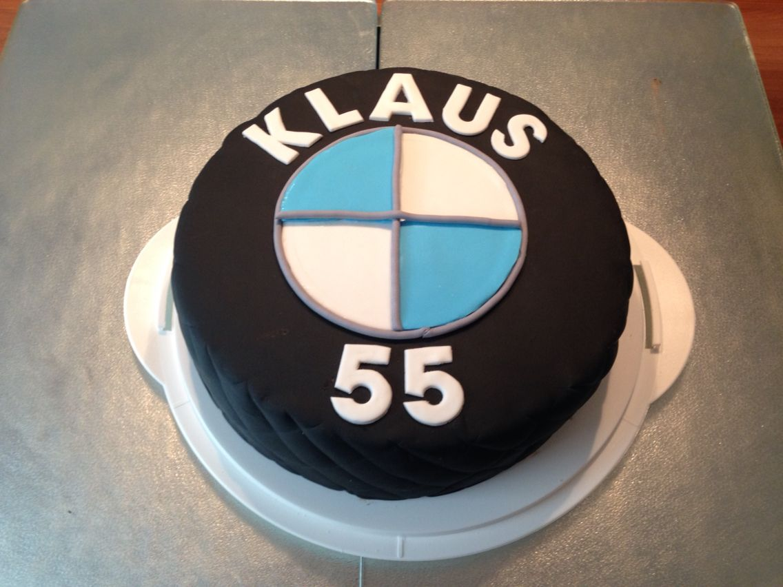 BMW Torte | Fondant BMW Logo | 55. Geburtstag | Torte zum Geburtstag ...