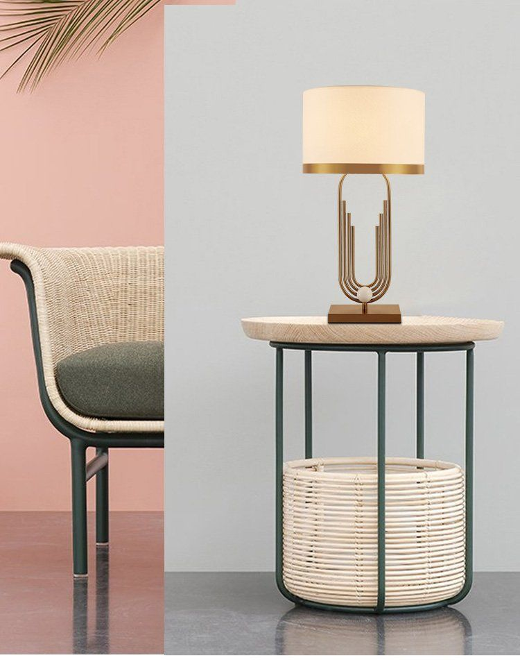 Modern Light Luxury Simple Lamp Gold Bed Side Table Lamp For Living Room Bedroom Decoration In 2020 Side Table Lamps Table Decor Living Room Lamps Living Room