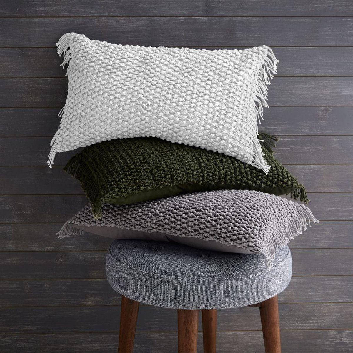 Knotted net cushion cover platinum tv room pinterest room
