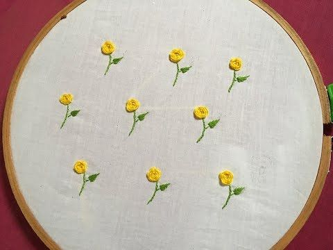 easy hand embroidery all over design of woven wheel stitch | embroidery for dress or blouse