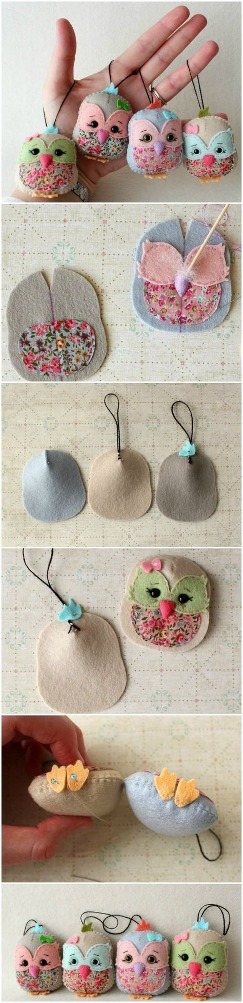 Felted Owl Scented Sachets Are Just Gorgeous Pola Gratis Bayi