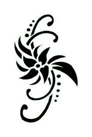 Fleur de tiar tatouages pinterest pochoir pochoir a imprimer et tatouage - Fleur de tiare dessin ...