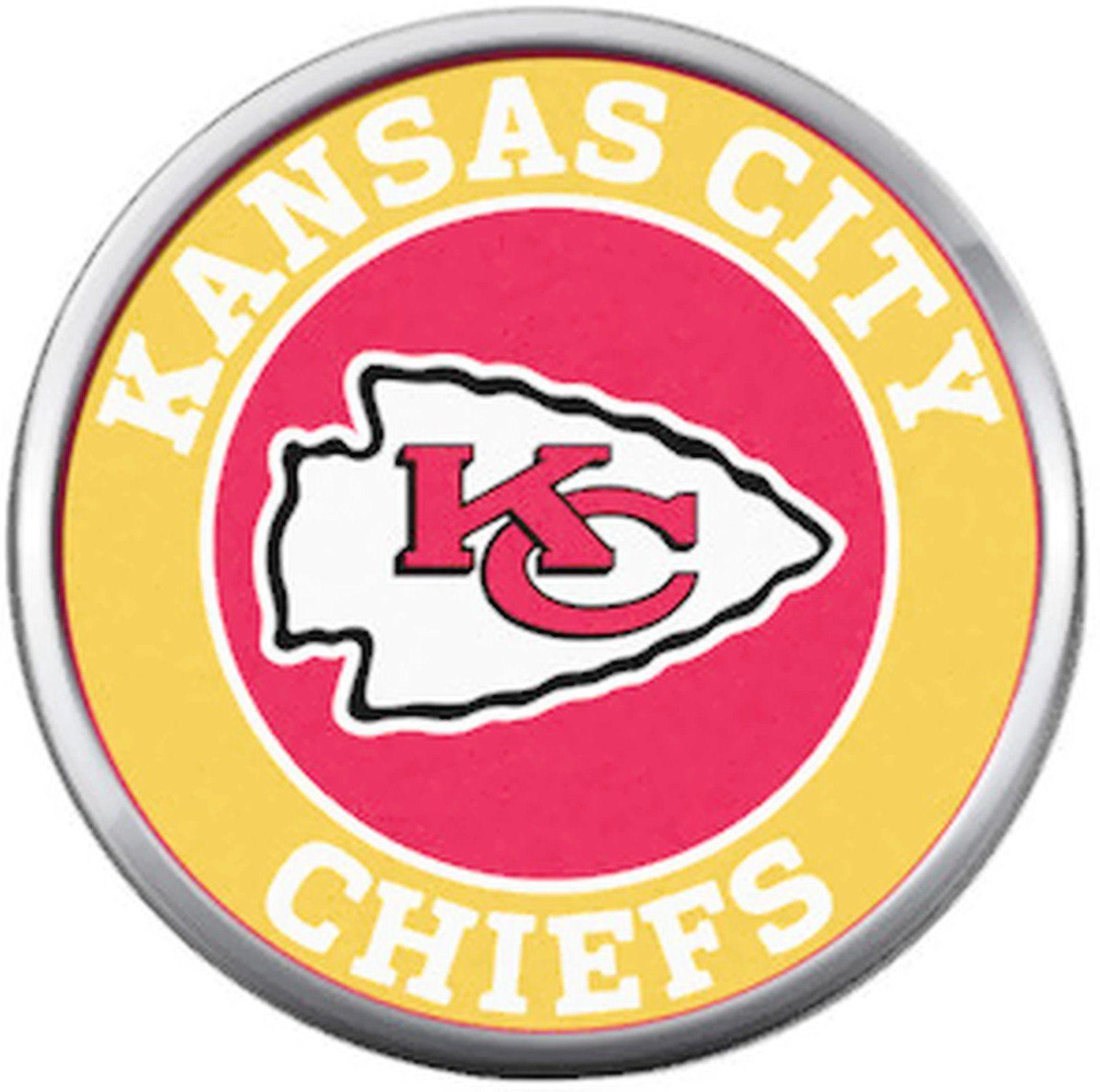 3931f9f8 Kansas City Chiefs NFL Circle Football Lovers Team Spirit 18MM - 20MM Snap  Jewelry Charm