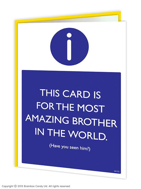Brainboxcandy amazing brother greeting card 250 httpwww brainboxcandy amazing brother greeting card 250 httpbrainboxcandyamazing brother greeting card m4hsunfo