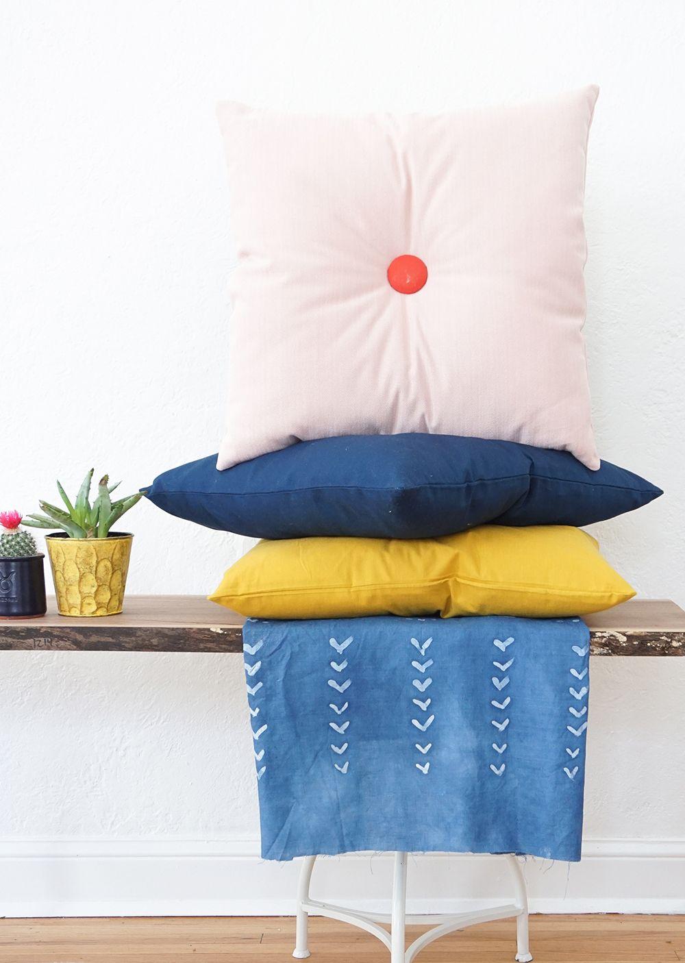 Colorful diy tufted pillows pillows diys and craft