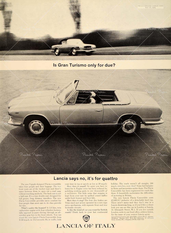 Anuncio Lancia Flavia Convertible de 1964