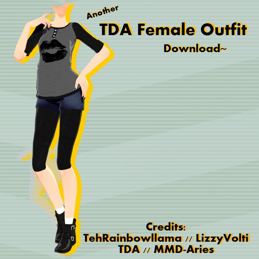 Another- TDA Female Outfit (+DL) by MMD-Aries | mmd
