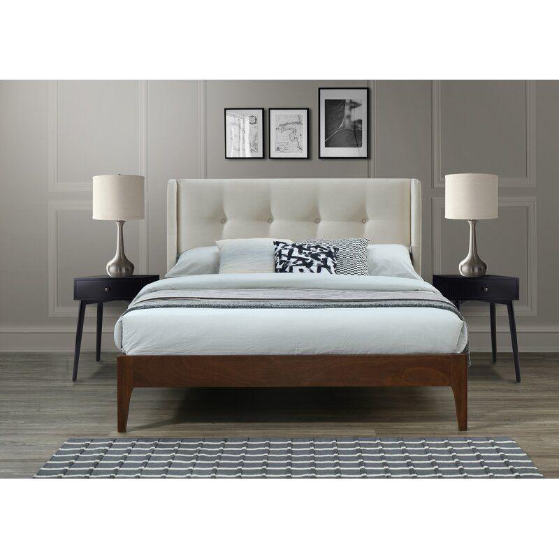 Birdsall Conway Queen Upholstered Platform Bed Upholstered Platform Bed Stylish Beds Simple Bed Frame