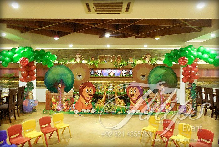 Jungle Zoo Themed Birthday Party Planner in Lahore Pakistan