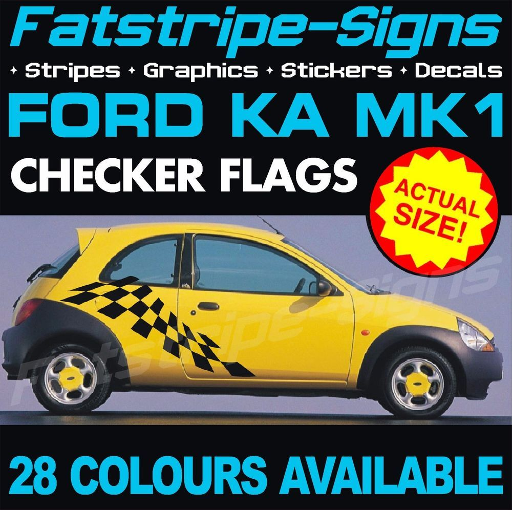 Details About Ford Ka Mk1 Graphics Stripes Decals Stickers Car