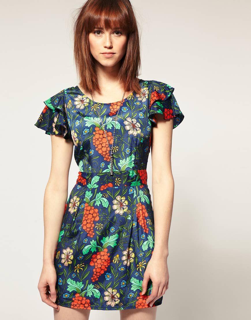 5d2093baaf Vera Moda Grape Print Dress