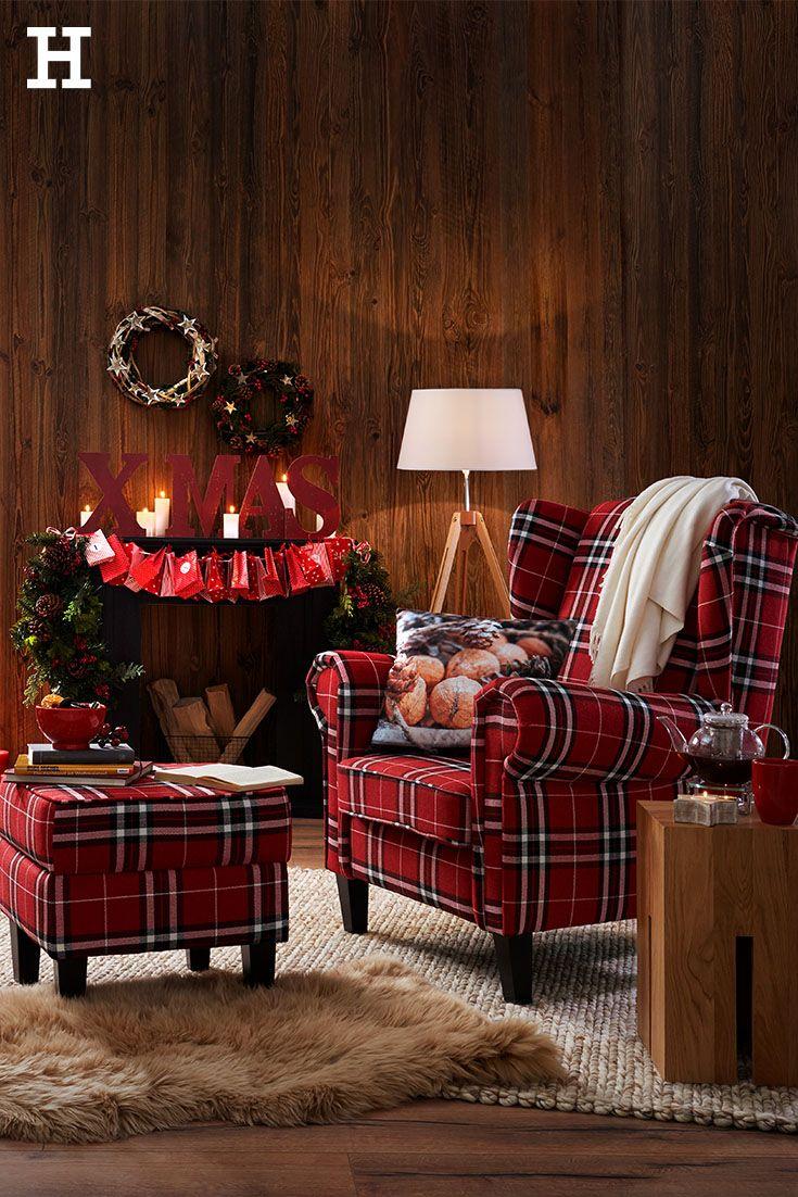 So Wird Es Weihnachtlich Ein Grosser Sessel Mit Hocker