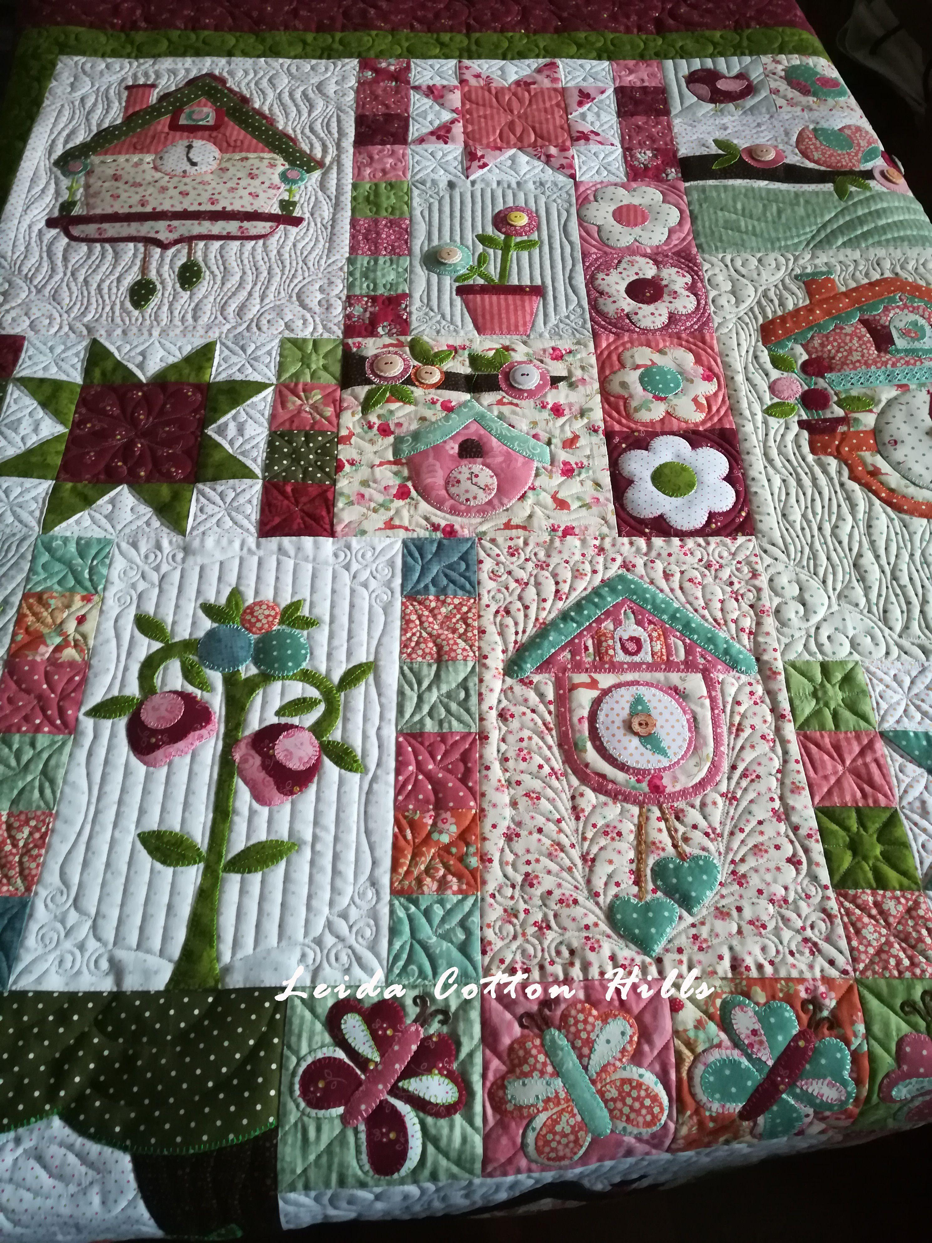 Leida Cotton Hills. Acolchados de patchwork con máquina de brazo largo.