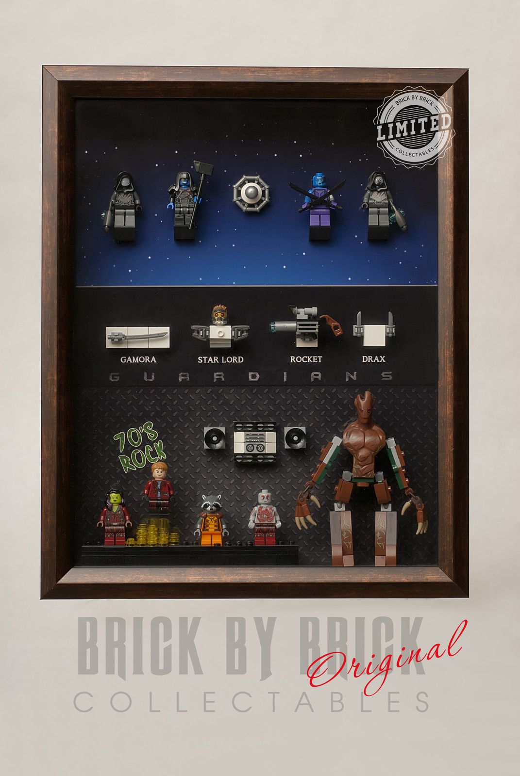 Lego Guardians of The Galaxy Minifigure Custom Display Case All ...