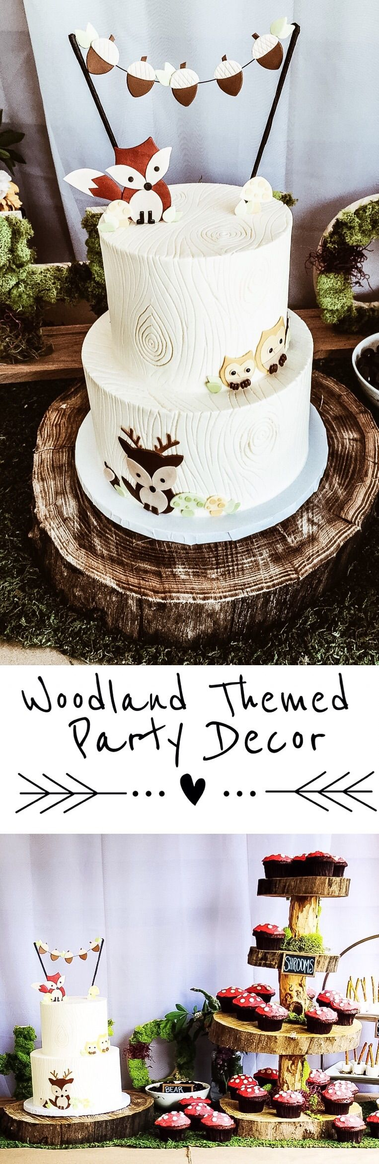 Woodland Themed Party Decor for a boy