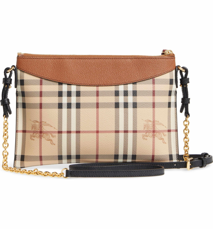 7f8ef9b50b5a Main Image - Burberry Peyton - Haymarket Check Coated Canvas Crossbody Bag