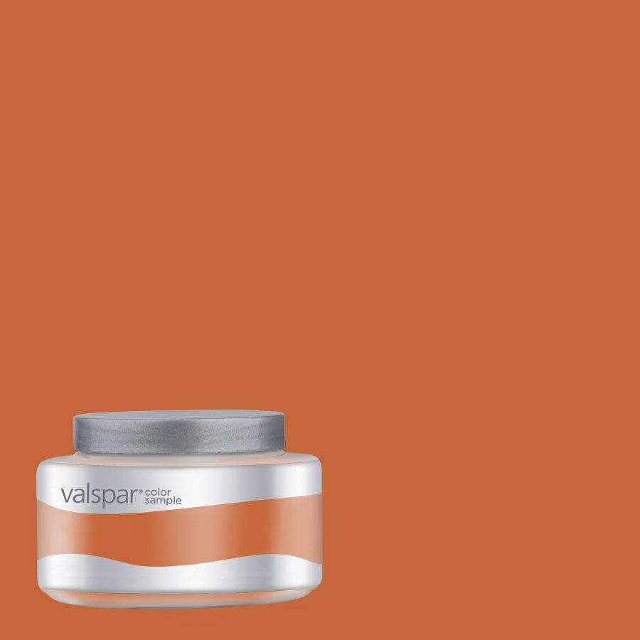 Valspar Pantone Burnt Orange Interior Satin Paint Sample At Lowes Www Thepaisleypearframeco