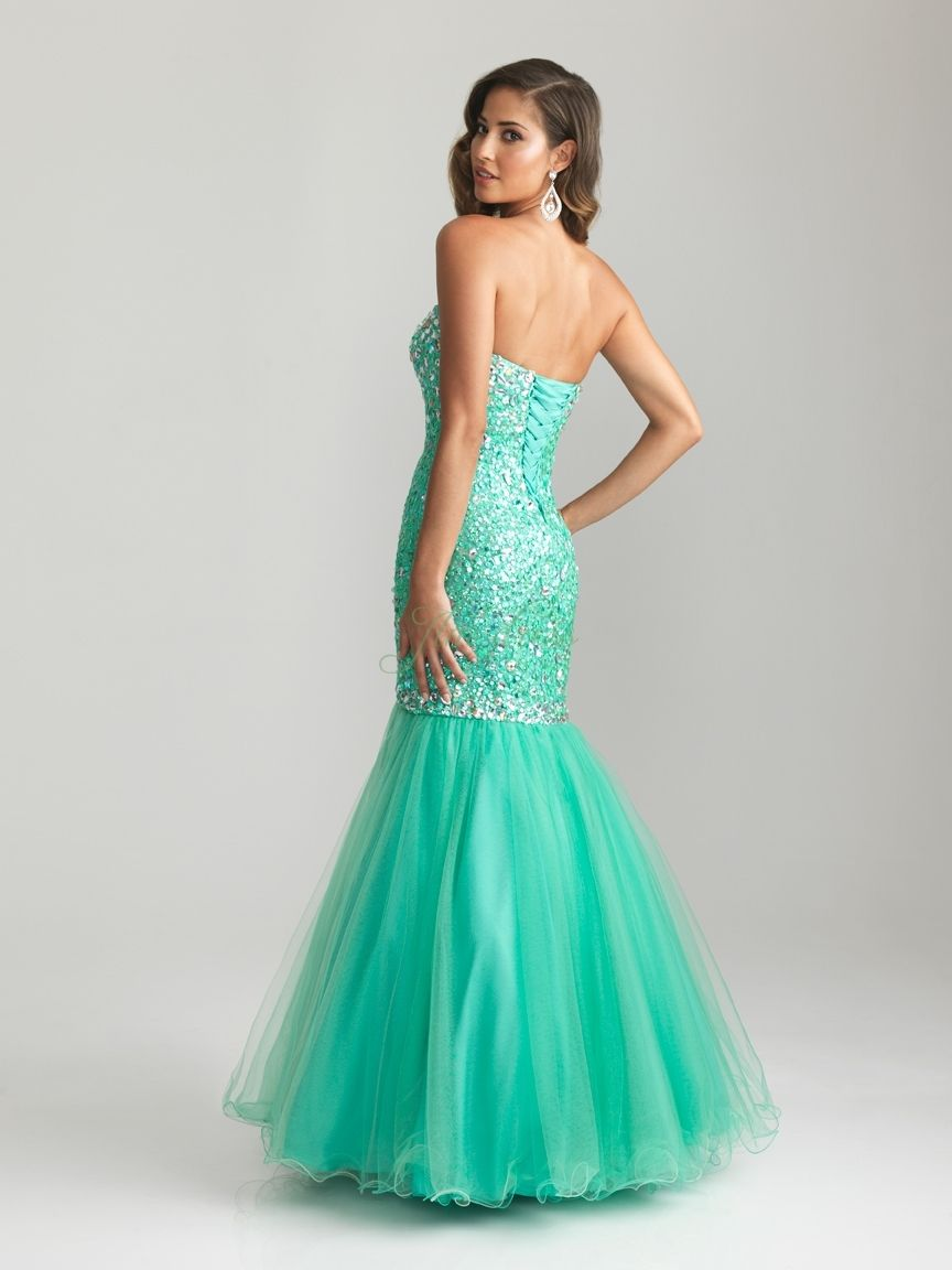 Beaded Mermaid Prom Dress Photo Album - Reikian