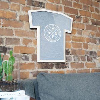T-frame t shirt cornice bianca decorazioni da parete Umbra