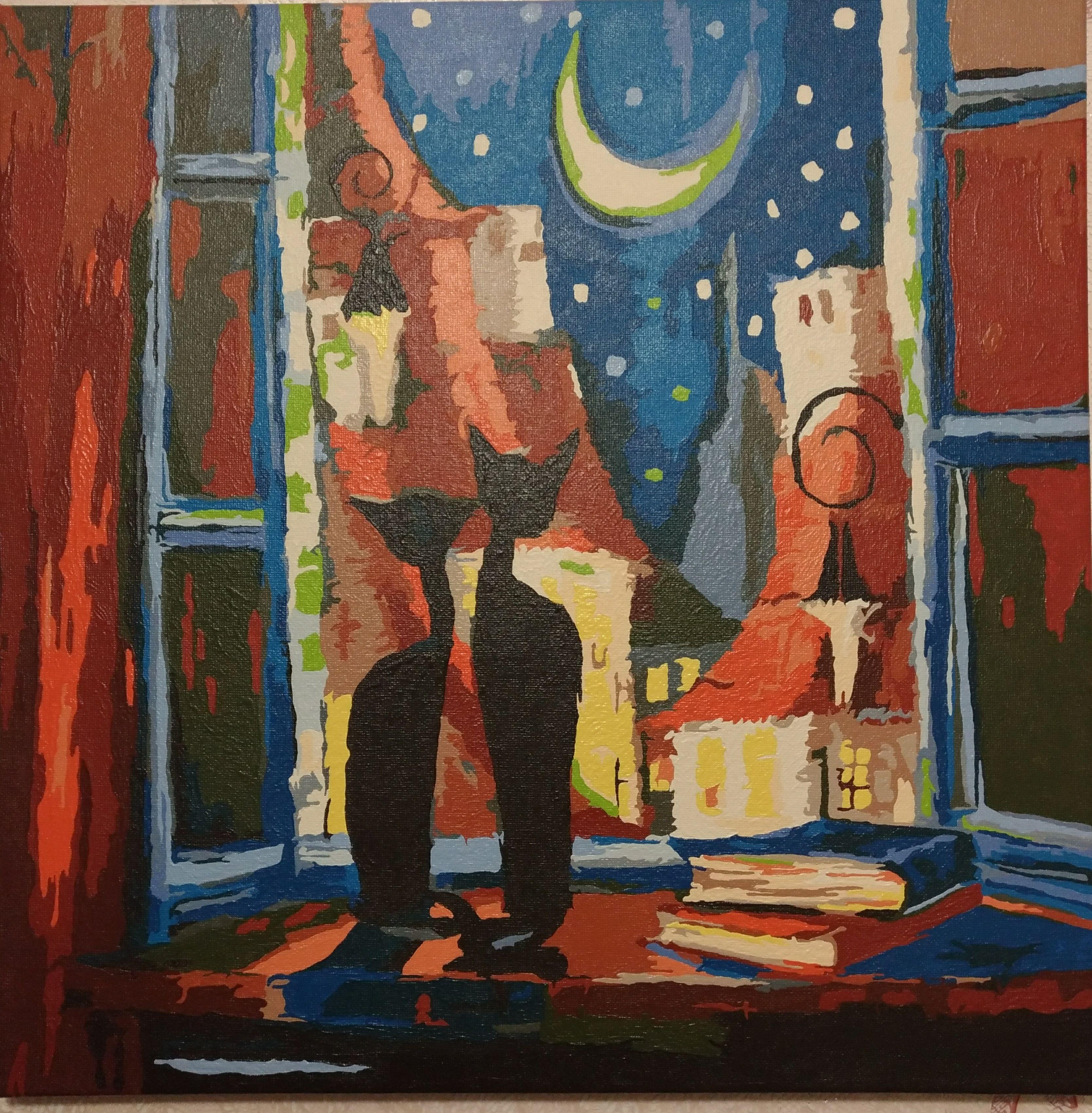 Картина по номерам Идейка Романтическая ночь (KH2439) 40 х ...