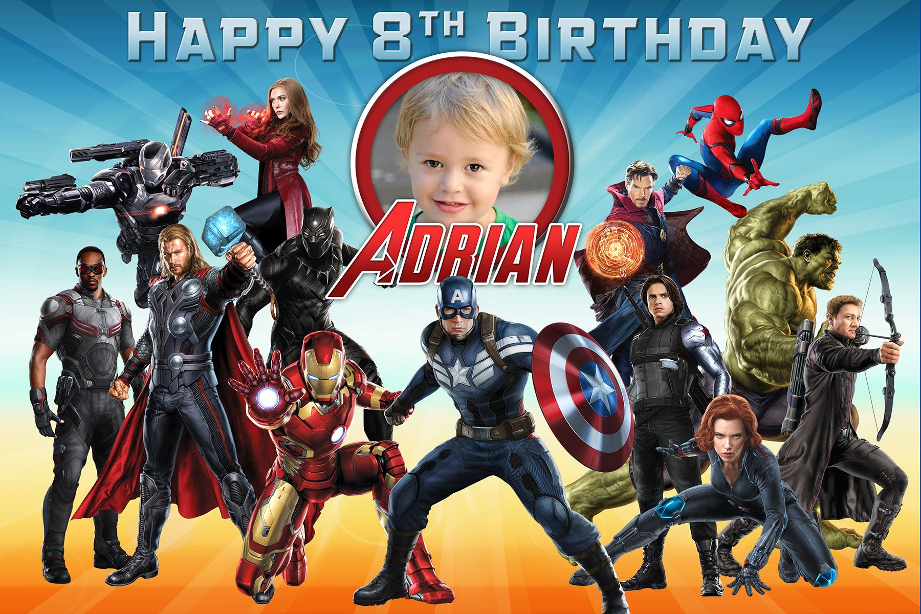 Free Avengers Birthday Tarpaulin  Dioskouri Designs Intended For