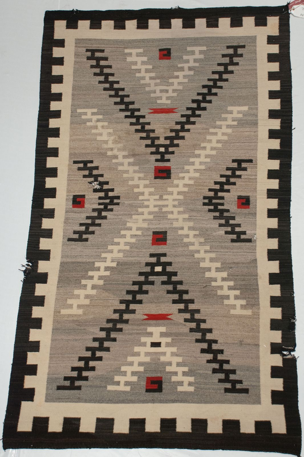 Details About Old Heavy Native American Wool Blanket Rug 5