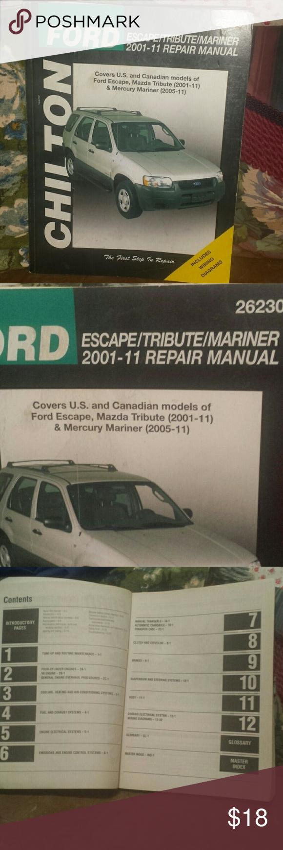 Ford Escape Tribute Mariner Repair Manual Repair Manuals Ford Escape Repair