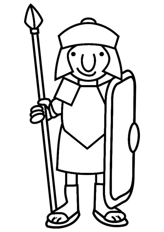 Coloring Page Roman Soldier Roman Soldiers Soldier Drawing