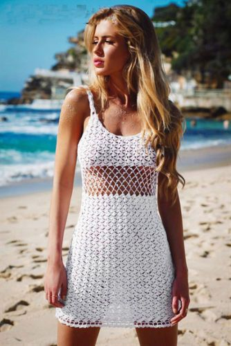 fb8da961f7 Sexy Women Bathing Suit Lace Crochet Bikini Cover Up Swimwear Summer Beach  Dress | eBay