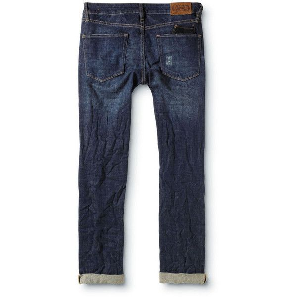 Quiksilver Brewster Slim Thresher Nap Jeans ($35) ❤ liked on Polyvore