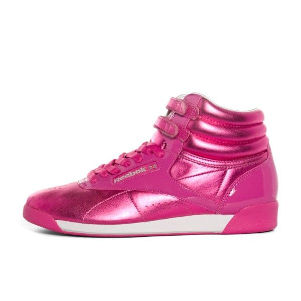 3ecfb81d7 Reebok Freestyle Hi International Metallic (pink metallic   whit ...