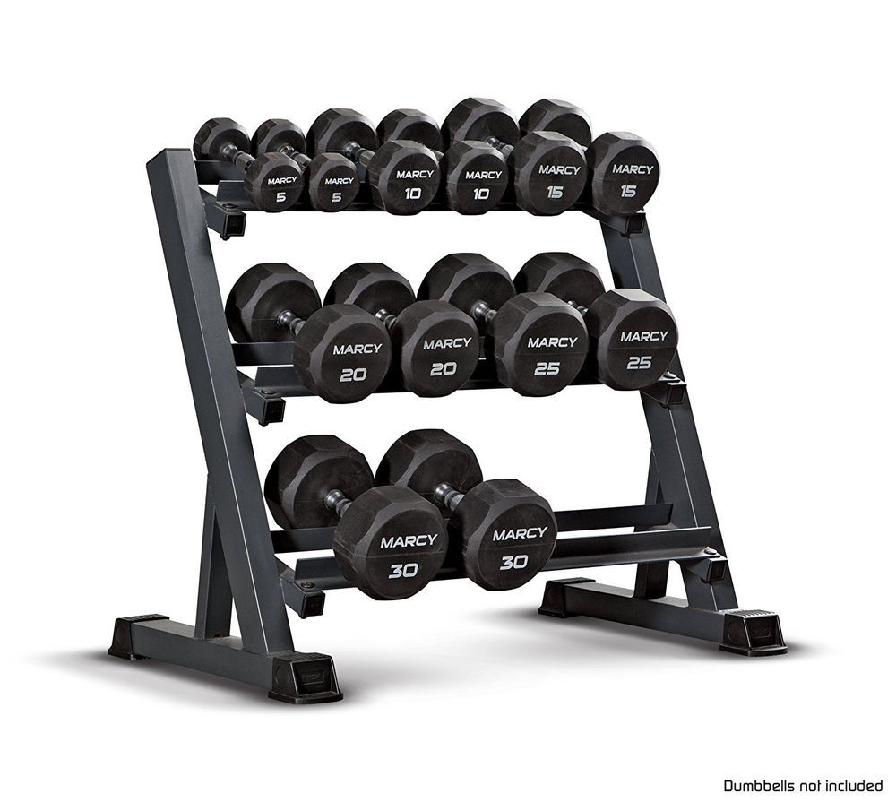 Free Weights Storage: Multiple Dumbbell Rack Fitness Weight Gym Set 3 Tier