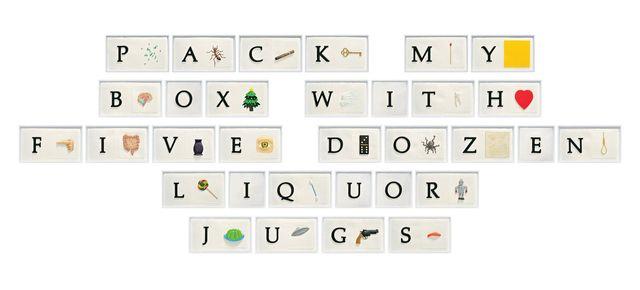 John Baldessari, 'A B C Art (Low Relief), Part II:PMBWFDLJ (Pangram),' 2010, Mixografia