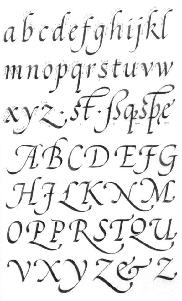 claude médiavilla cancellaresca  lettering alphabet