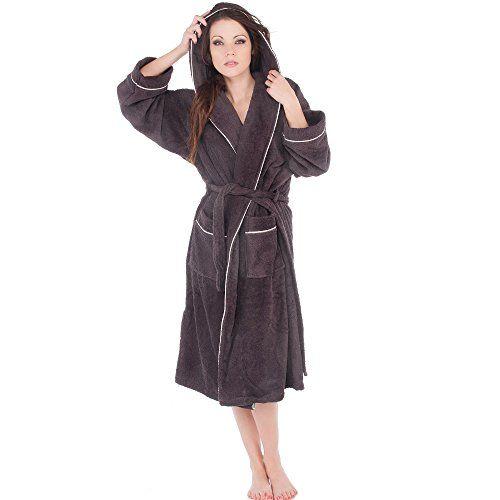 verschiedene Stile Online gehen Tiefstpreis aqua-textil Bademantel für Damen Herren Baumwolle weicher ...