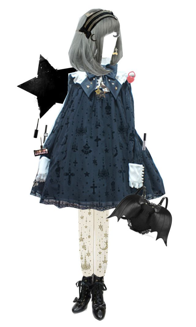 """""""Star Shimmer, Holy Lantern with all that Glitter!"""" by thatgalaxygreaser on Polyvore featuring Usagi, Napoleon Perdis, NYX, Dogeared and Marc Jacobs"""