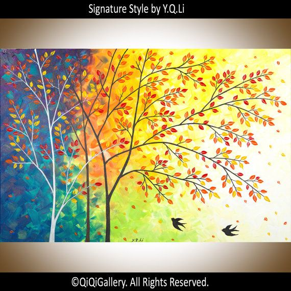Custom Painting for Mona Original painting Palette Knife canvas ...