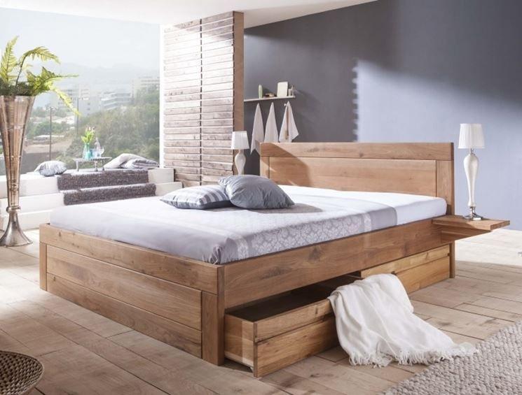 Letto in legno con cassetti mountain design in