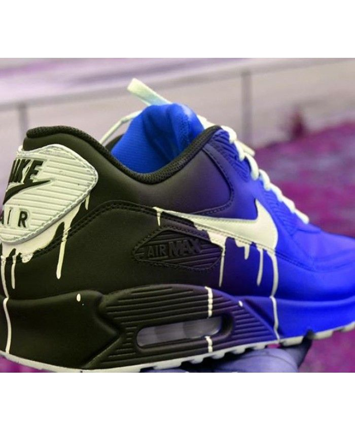 0def7e1511 Nike Air Max 90 Candy Drip Gradient Black Navy Purple Trainer ...