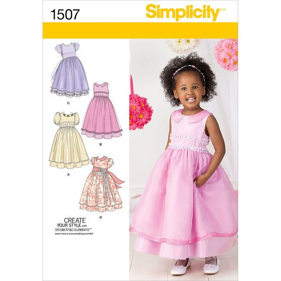 Simplicity Pattern 1507BB 4 - 5 - 6 - 7 - 8 - Toddlers Dresses ...
