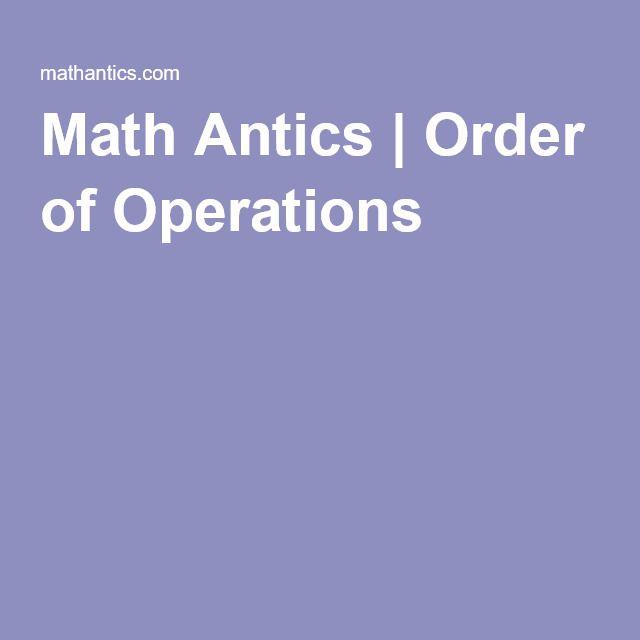 prentice hall algebra one, 1 Math Antics | Order of Operations ...
